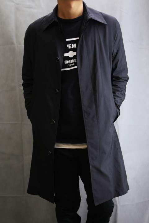 soutien collar coat black
