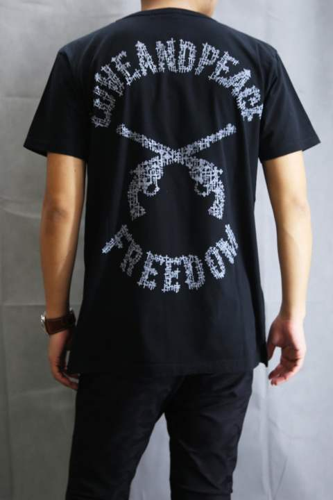 AMERICAN COTTON COMBER JERSEY BIG T-SHIRT BLACK