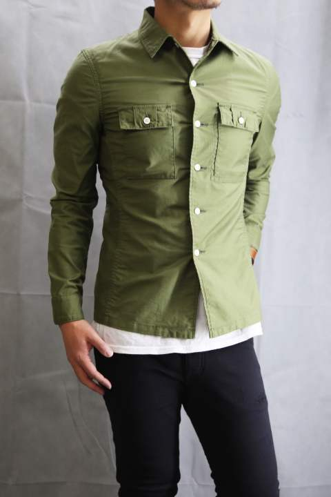 officer shirts KHAKI