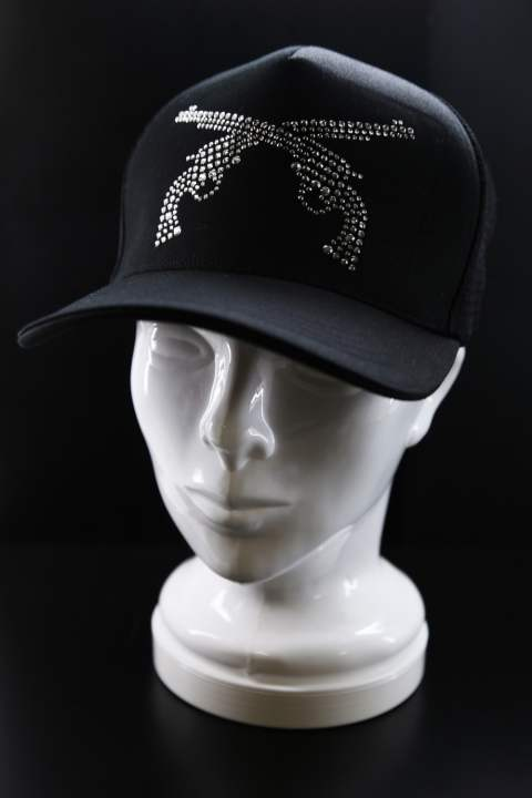 PISTOL SWAROVSKI CRYSTAL BB CAP BLACK/NIGHT