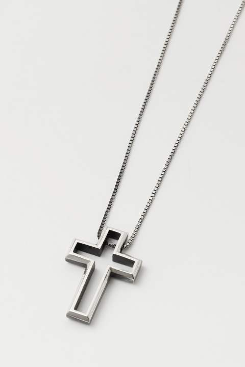 ARCHITECT SKELETON CROSS PENDANT SILVER IBUSHI