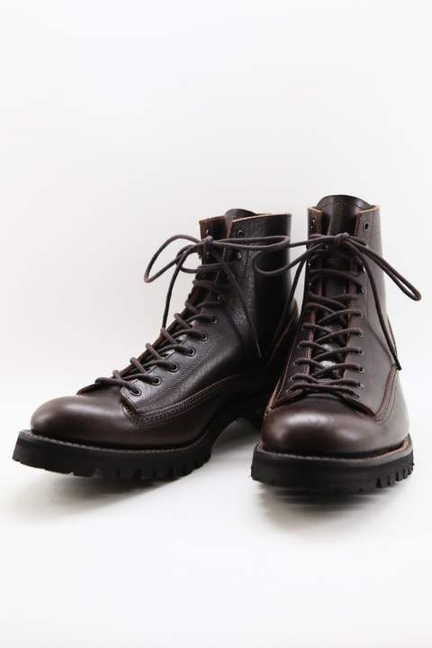 ITALY SHOULDER MILITARY BACK ZIP BOOTS	 BROWN