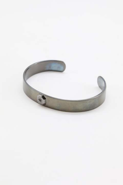 OCTAGON SUN BANGLE  Matte Black