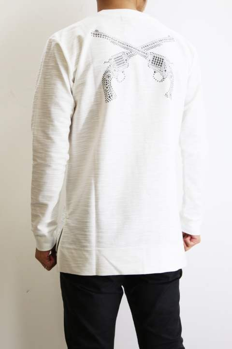 TWEED JERSEY L/S T-SHIRTS WHITE