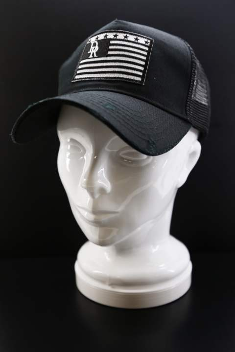 VINTAGE DENIM RESOUND FLAG CAP BLACK A
