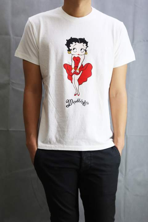 BETTY BOOP×Marbles T-SHIRT White