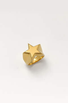 STAR PINKY Ring GD