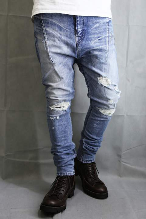 12ozST/DENIM Sarouel Pants Blue