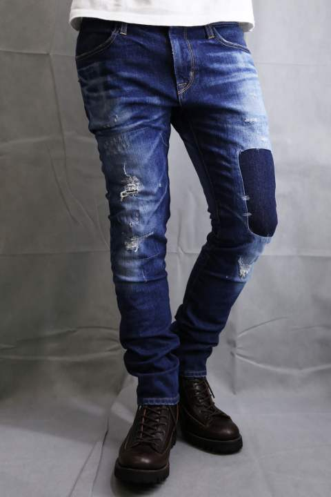 Hybrid Vintage DENIM SLIM STRAIGHT CRASH