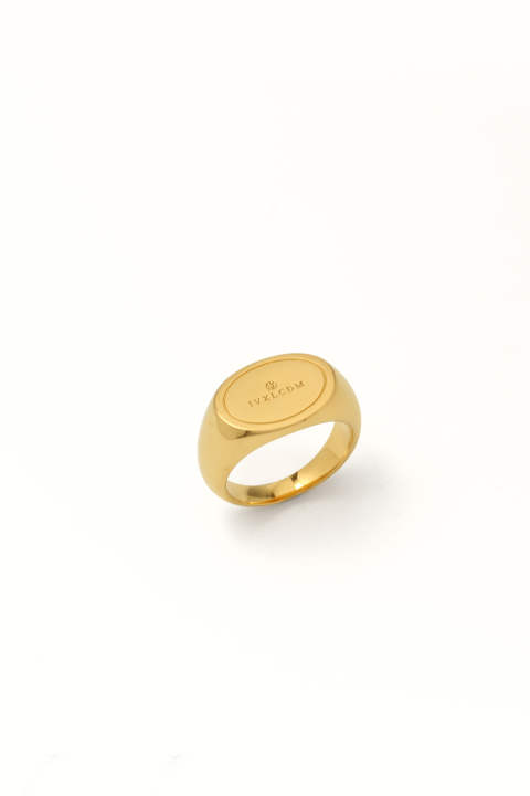 OVAL LOGO PINKY Ring GD