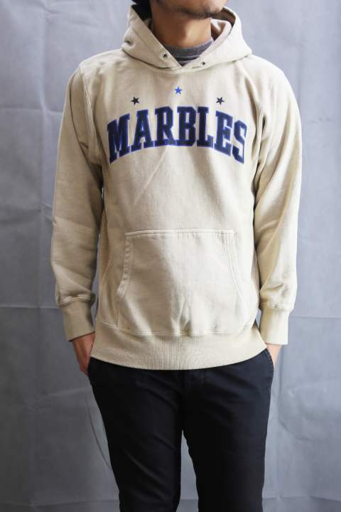 MARBLES Pigment Hooded Parka Beige