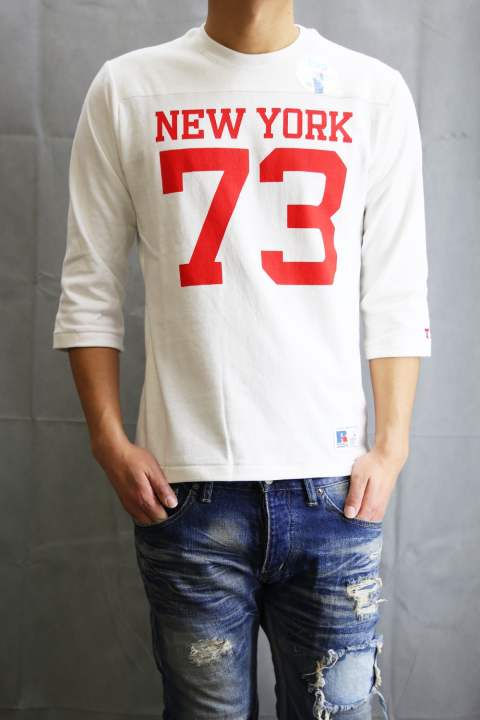 TMT×RUSSELL 7/SL T-SHIRT (NEW YORK 73) White