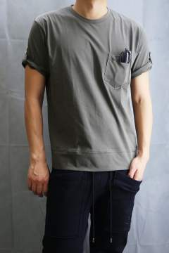 WIDE ROLL UP T Khaki