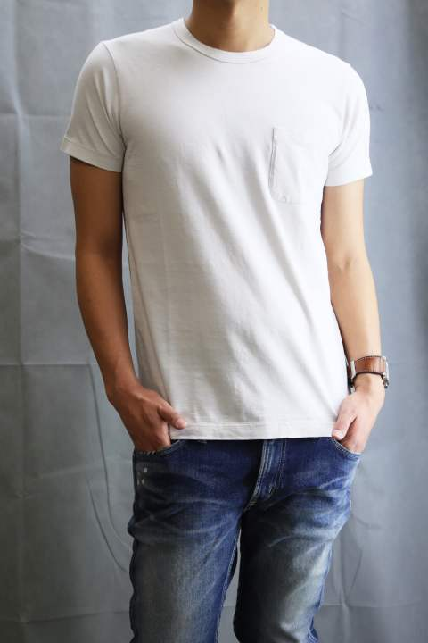 PIMA天竺 POCKET T-SHIRT White