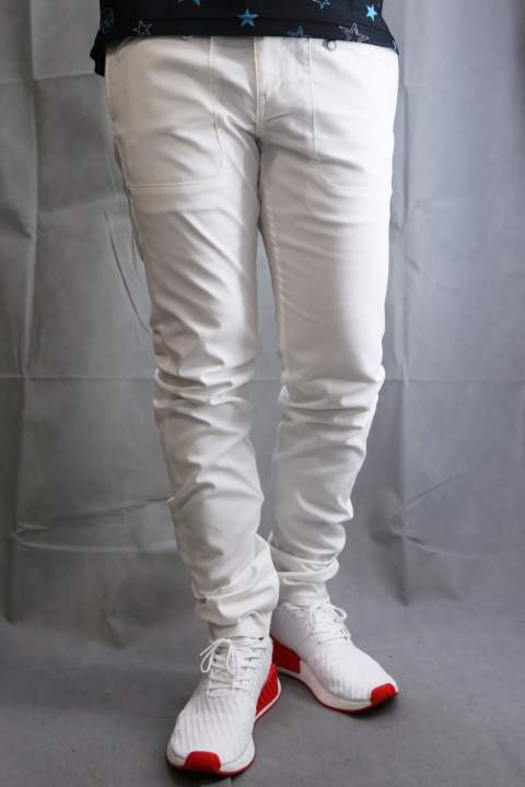 BACK POKCET JQ  Pants WHITE