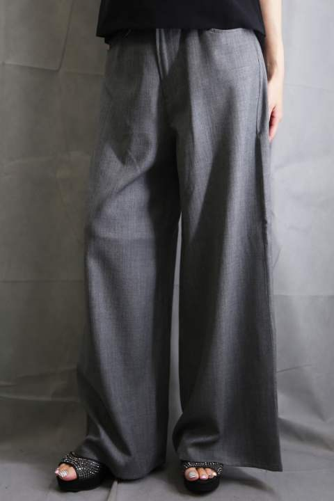 """PISTOL""SWAROVSKI CRYSTAL DOBBY NEO STRETCH PANTS TOP GRAY"