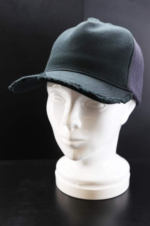 【ラスト1点】 cut-off mesh cap (jersey)	black