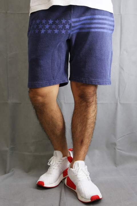 【ラスト1点SizeS】 Stars Border Sweat Shorts navy