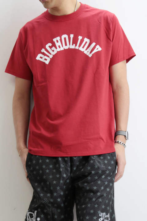 TMT×FRUIT OF THE LOOM TEE (BIGHOLIDAY) Red