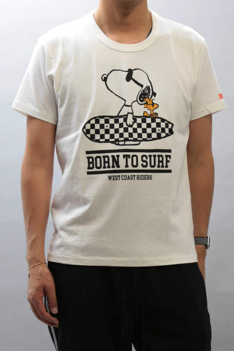 PEANUTS×TMT S/SL 17/1 JERSEY(BORN TO SURF)  WHITE