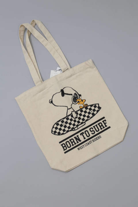 PEANUTS×TMT CANVAS TOTEBAG (BORN TO SURF)