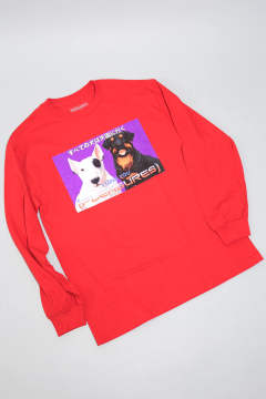 DOGGIE STYLE LONGSLEEVE T-SHIRT RED