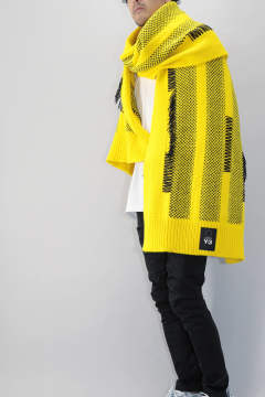 【ラスト1点】 Y-3 KNIT SCARF Yellow