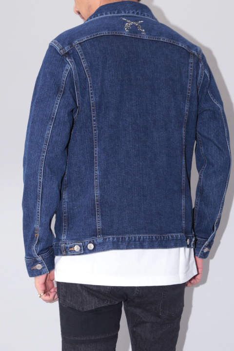 ラスト1点Size2 【River別注】 LIMITED DENIM BLOUSON SWAROVSKI