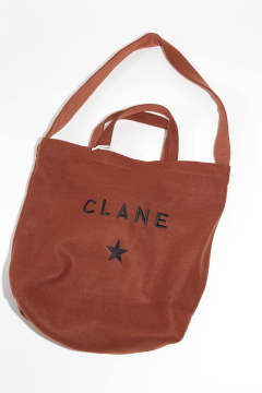 x CLANE★トート大 バッグ BROWN