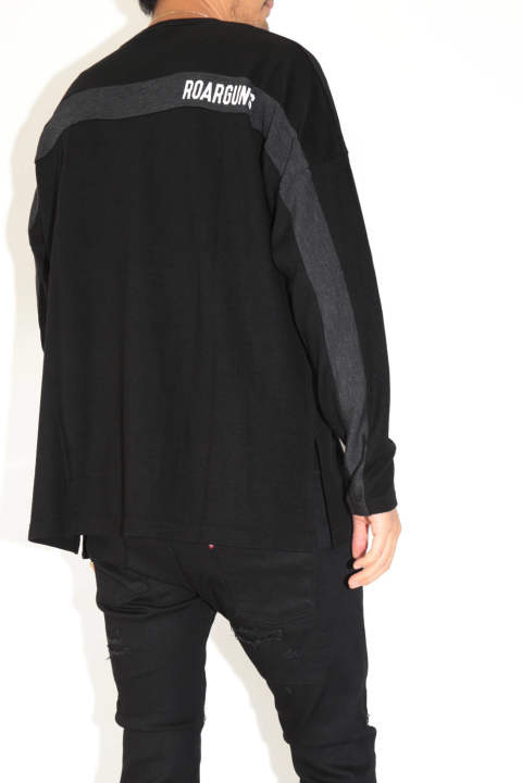 MILLED WASHABLE WOOL JERSEY L/S  -ミルドウォッシャブル天竺ロングスリーブ- BLACK