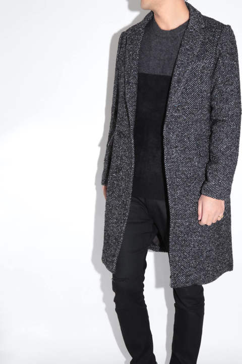 LONG CHESTER COAT Gray