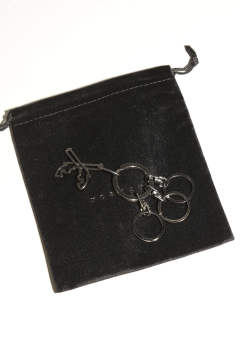 Cross Guns Key Ring  Black
