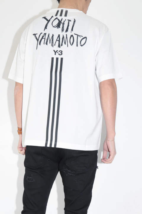 SIGNATURE GRAPHIC SS TEE    White DY7218 Y-3