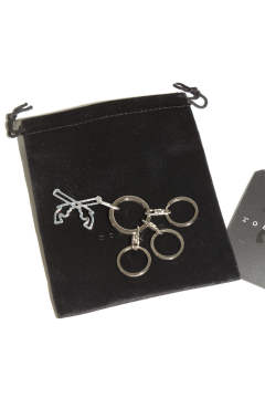Cross Guns Key Ring  Silver