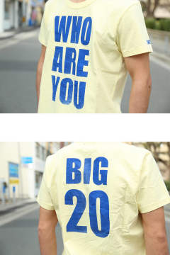 【TMT 20周年特別アイテム】  S/SL BD JERSEY(WHOAREYOU BIG20) Light Yellow