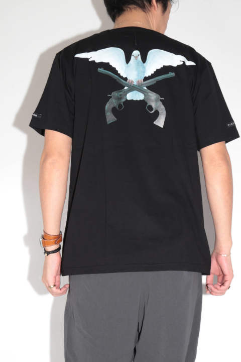 x 3.Paradis AMERICAN COTTON COMBER JERSEY Tee  Black
