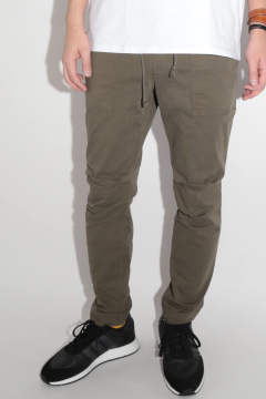 NARROW BAKER PANTS Olive