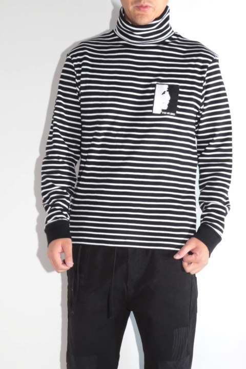 STRIPY LS TURTLENECK(WITH PATCH)