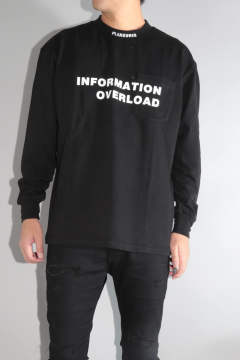 【ラスト1点 M 】INFORMATION HEAVY WEIGHT LONG SLEEVE Black