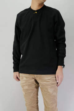 BOMBER HEAT® THERMAL HENRY NECK L/SL PULLOVER BLACK