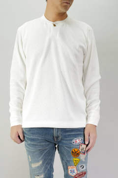 BOMBER HEAT® THERMAL HENRY NECK L/SL PULLOVER WHITE