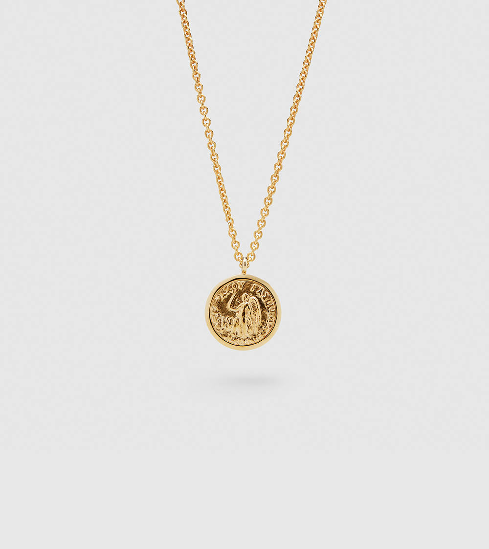 Coin Pendant Angel Gold
