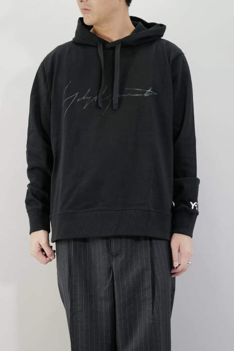 M DISTRESSED SIGNATURE HOODIE   Black