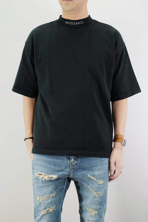 MOCK NECK KNIT  Black