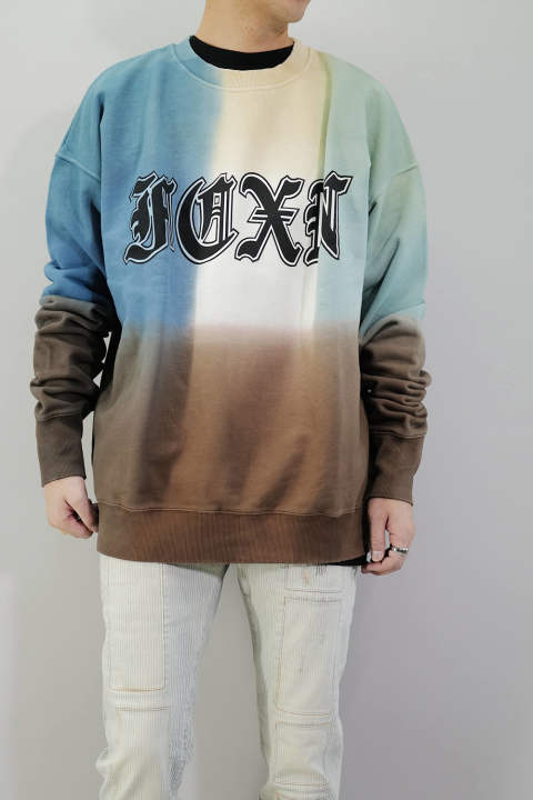 【ラスト1点S】DEEP DYE OV SWT Deep Dye Oversize Sweat