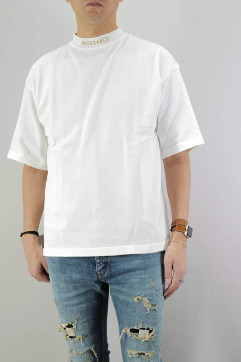 MOCK NECK KNIT  White