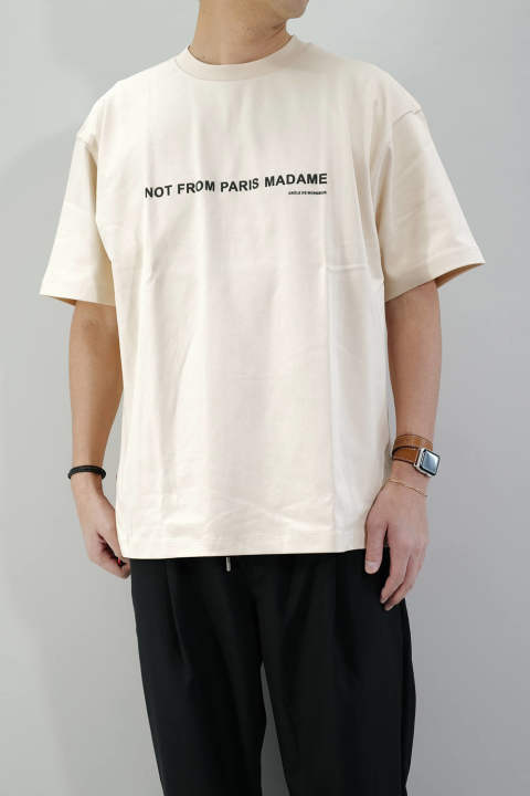 Printed NFPM T-Shirt Beige