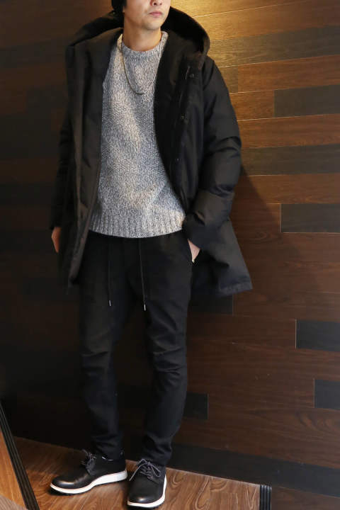【jun hashimoto】Hooded Wrap Down Coat  Styling③